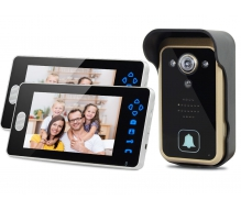 TL-A701A Home Security 2.4GHz Wireless Video Intercom Doorphone with Two Indoor Monitors