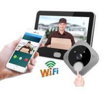 TL-WF04 Battery Powered Smart Wifi Video Door Viewer Peephole Camera with Motion Sensor and 7inch Monitor