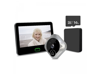 TL-WF04 Battery Powered Smart Wifi Video Door Viewer Peephole Camera with 7inch Monitor